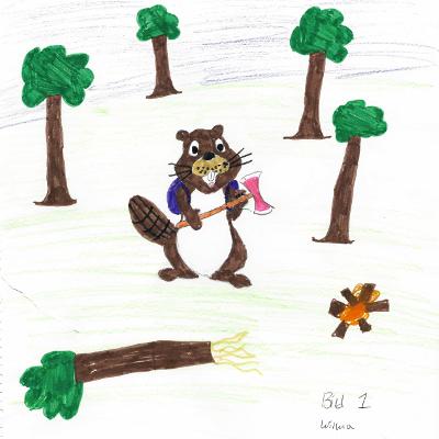Benny klarar det mesta, även att hugga ved och göra upp eld, för han är en riktig äventyrsbäver.